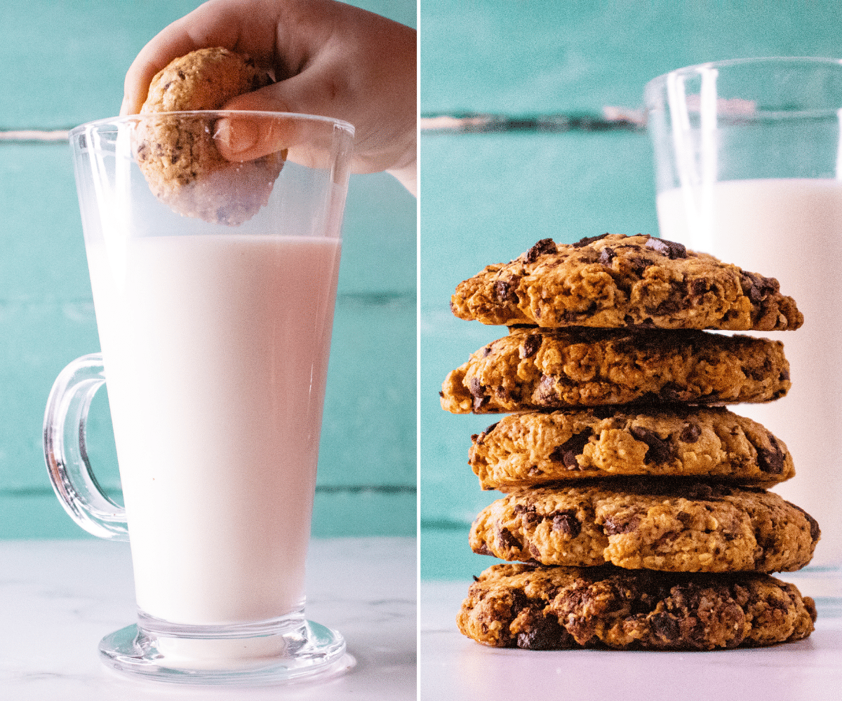 chocolate and oat cookies